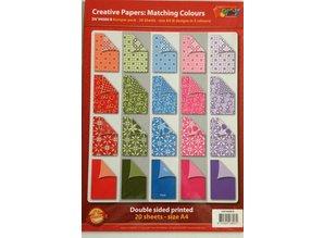 DESIGNER BLÖCKE  / DESIGNER PAPER A4 Designer block, 20 sheets