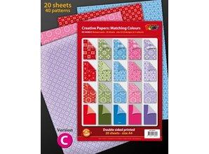 DESIGNER BLÖCKE  / DESIGNER PAPER Diseñador bloque A4, 20 hojas
