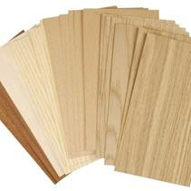 Chapas de madera, hoja de 22x12 cm