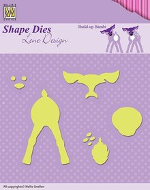 Nellie snellen Punching and embossing templates: Lene Design, Build-up the Bambi