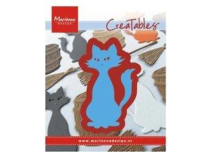 Marianne Design Stansning og prægning skabelon: Kitty