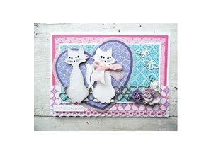 Marianne Design Troquelado y estampado en relieve plantilla: Kitty