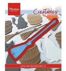 Marianne Design Stansning og prægning skabelon: Broom