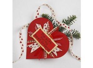 KARTEN und Zubehör / Cards Heart kort og konvolutter, kort str 12,5x12,5 cm, rød, 10 kort i et sæt