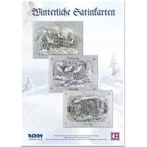 Card håndværk kit: Wintry satin sølv-kort