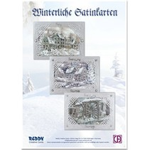 kit de artesanía de tarjeta: Tarjeta de plata satinado Invernal