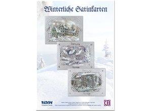 BASTELSETS / CRAFT KITS: Card craft kit: Wintry satin silver card