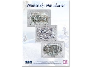 BASTELSETS / CRAFT KITS: kit de artesanía de tarjeta: Tarjeta de plata satinado Invernal