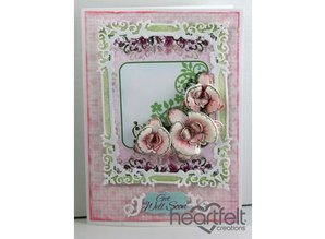Heartfelt Creations aus USA Botanic Orchid Cling Stamp HCPC - 3741 and the right punch HCD1- 7101