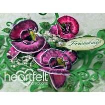 Sello de goma de la orquídea botánico con ponche a juego