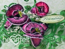 Heartfelt Creations aus USA Botanico Orchidea timbro di gomma con pugno di corrispondenza