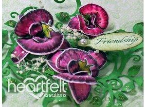 Heartfelt Creations aus USA Botánico de la orquídea se aferra el sello HCPC - 3741 y el punzón derecho HCD1- 7101