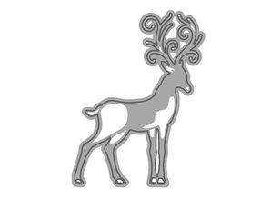 TONIC Stansning og prægning skabelon: 1 + 1 slæde rensdyr