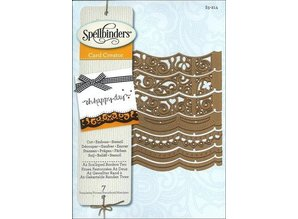 Spellbinders und Rayher Punching and embossing template: A2 Decorative border
