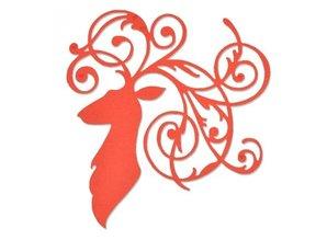 Sizzix Stansning og prægning skabelon: Elegant Rensdyr