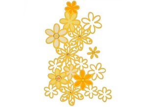 Sizzix Punching and embossing template: Drifting Daisy
