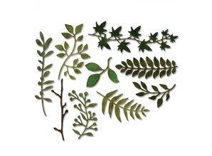 Sizzix Stansning og prægning skabelon: mange forskellige planter