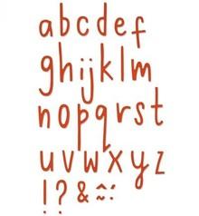 Sizzix Stansning og prægning skabelon: små bogstaver