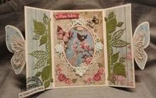 Studio Light Stanz- und Prägeschablone: Rosen Zierrahmen und 2 Rosen