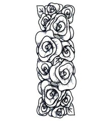 Creative Expressions Rubber stamps, roses border