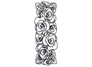 Creative Expressions Gummi-Stempel, Rosen Bordüre
