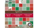 DCWV und Sugar Plum Designerblock, 30,5 x 30,5cm Christmas / Weihnachtspapier