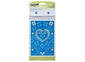 X-Cut / Docrafts Stansning og prægning skabelon: A6 ramme med hjerte