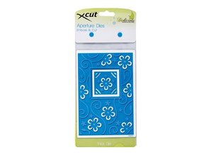 X-Cut / Docrafts Punching and embossing template: A6 frame with flowers and Viereck