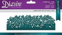 Die'sire Stanz- und Prägeschablonen: Bordüre mit Blumen