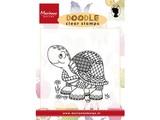 Marianne Design Transparent stamp: Doodle Turtle