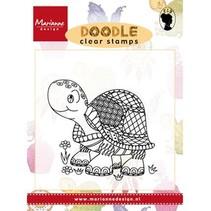 Transparent Stempel: Doodle Schildkröte