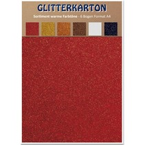 Glitter karton, varme farver