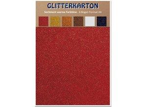 DESIGNER BLÖCKE  / DESIGNER PAPER Glitter karton, varme farver