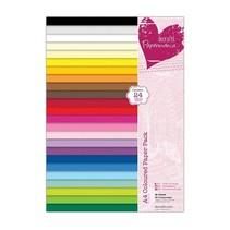 A4-papir pad, varme farver