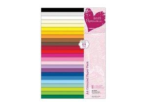 DESIGNER BLÖCKE  / DESIGNER PAPER A4-papir pad, varme farver
