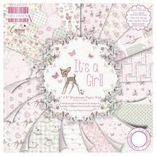 "DESIGNER BLÖCKE  / DESIGNER PAPER pad di carta, di un bebè ""E 'una ragazza"""