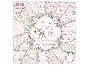 "DESIGNER BLÖCKE  / DESIGNER PAPER Paper pad, Baby ""It's a Girl"""