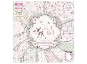 """DESIGNER BLÖCKE  / DESIGNER PAPER Papir pad, Baby """"Det er en pige"""""""