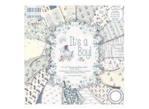 """DESIGNER BLÖCKE  / DESIGNER PAPER Papir pad, Baby """"Det er en dreng"""""""