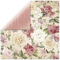 """Scrapbookingpapier papel del diseñador, """"floral spray"""""""