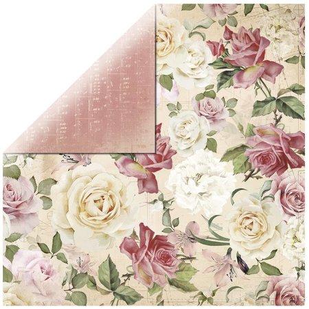 """DESIGNER BLÖCKE  / DESIGNER PAPER Scrapbookingpapier papel del diseñador, """"floral spray"""""""