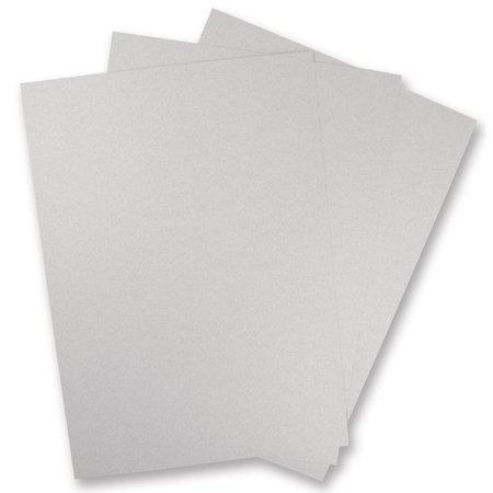 DESIGNER BLÖCKE  / DESIGNER PAPER 5 Bogen Metallic Karton, SILBER