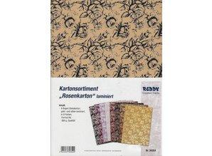 DESIGNER BLÖCKE  / DESIGNER PAPER Exclusives box assortment, Rose cardboard laminated