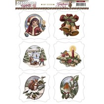 A4 Gestantzte Bilderbogen, tema de la Navidad