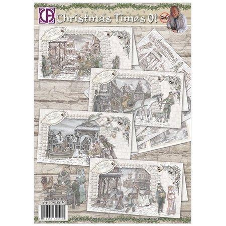 BASTELSETS / CRAFT KITS: Komplettes Kartenset: Christmas Times