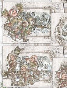 BASTELSETS / CRAFT KITS: Komplet kort sæt Jul Kids 01
