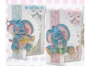 BASTELSETS / CRAFT KITS: Komplettes Kartenset: Elifant Parade