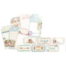 Labels, Etiketten, 24 Teile