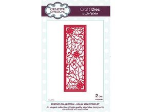 Creative Expressions Punching and embossing template: Holly Mini Striplet