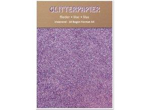 DESIGNER BLÖCKE  / DESIGNER PAPER Glitter pap, iriserende, 10 ark, Lilac
